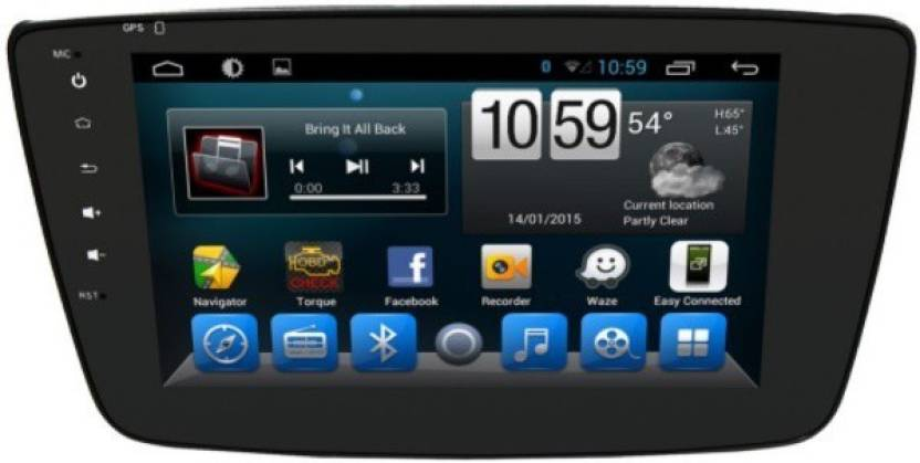 Woodman WM-LX-BALENO73 Android Double Din With Inbuilt GPS Navigation  System, Playstore & Screen Mirroring Car Stereo
