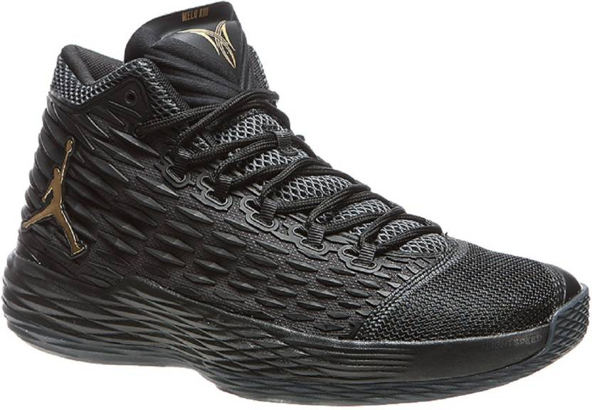 new concept f371a d60c7 Air jordan Melo 13 - Black Basketball Shoes For Men (Black)
