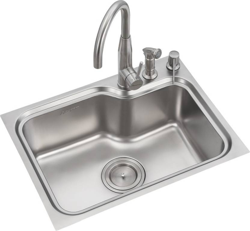 Swell Anupam Stainless Steel Kitchen Sink 535 X 460 X 200 Mm 21 Home Interior And Landscaping Palasignezvosmurscom