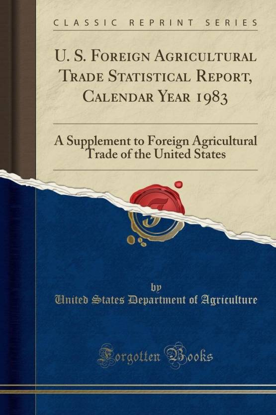 1983 Calendar India.U S Foreign Agricultural Trade Statistical Report Calendar Year