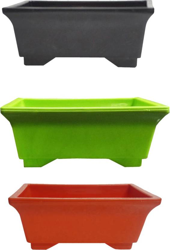 ACCESSOREEZ Beauty tray Plant Container Set Pack of 3, Plastic