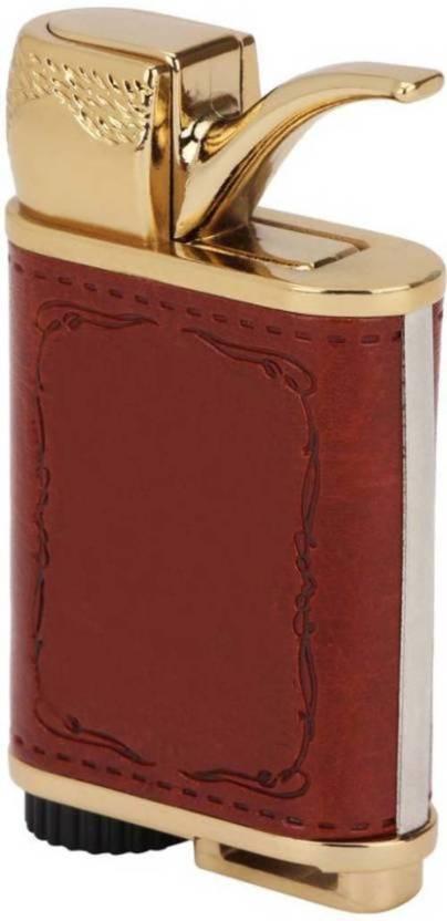Daylfonos Antique Leather Brass Emblem Cigar Shape
