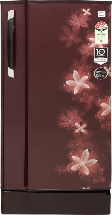 Godrej 190.0 L Direct Cool Single Door 4 Star Refrigerator  (Galaxy Wine, RD Edge 205 TAI 4.2 GXY Win) at Flipkart ₹13,999