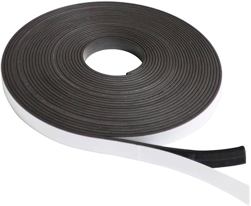 kraftmasters Self Adhesive Magnetic Tape Magnet Strip   small   Multipurpose Office Magnets Pack of 1