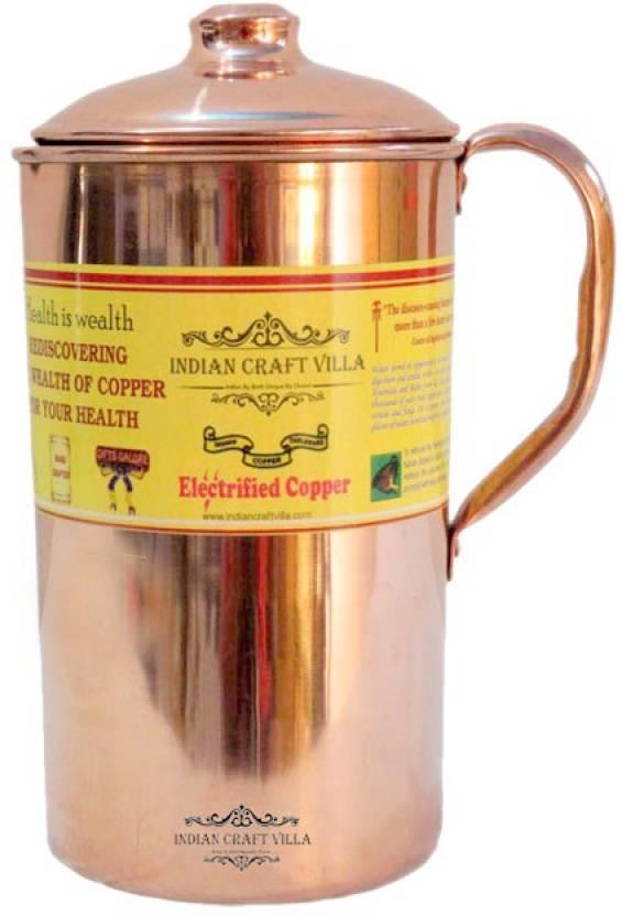 Indian Craft Villa 2.1 L Water Jug Copper