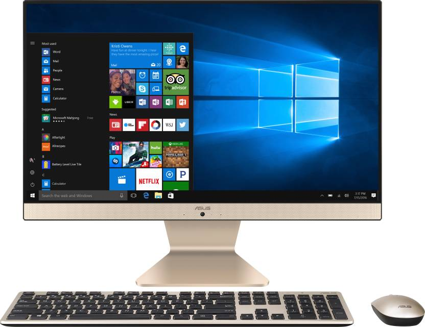 Asus – (Core i5/8 GB DDR4/1 TB/Windows 10 Home)  (Black, 387 mm x 489 mm x 51 mm, 4.8 kg, 21.5 Inch Screen) at Flipkart ₹48,490