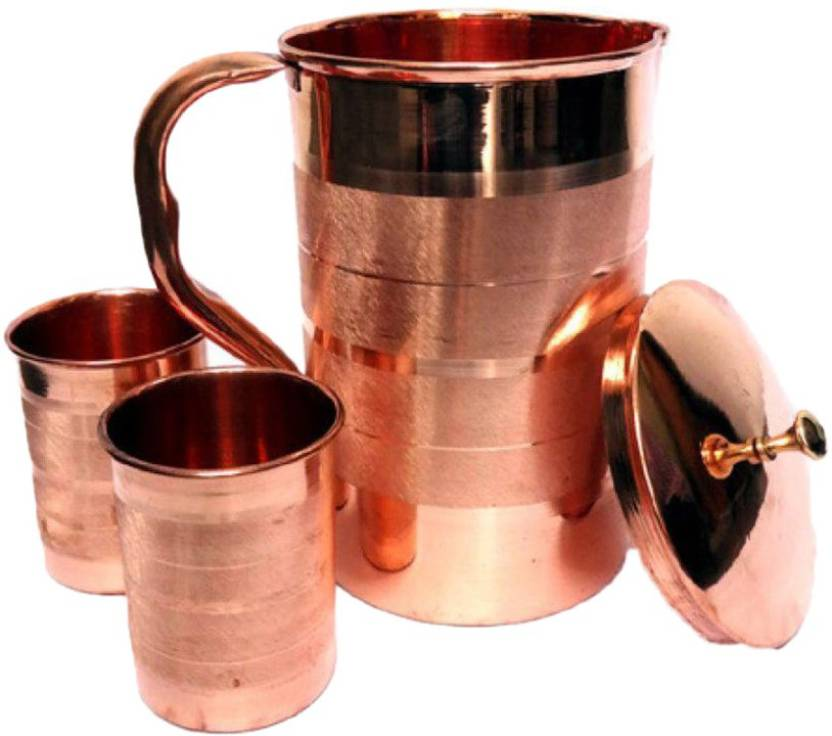 4orke F 0010 Jug Glass Set Copper