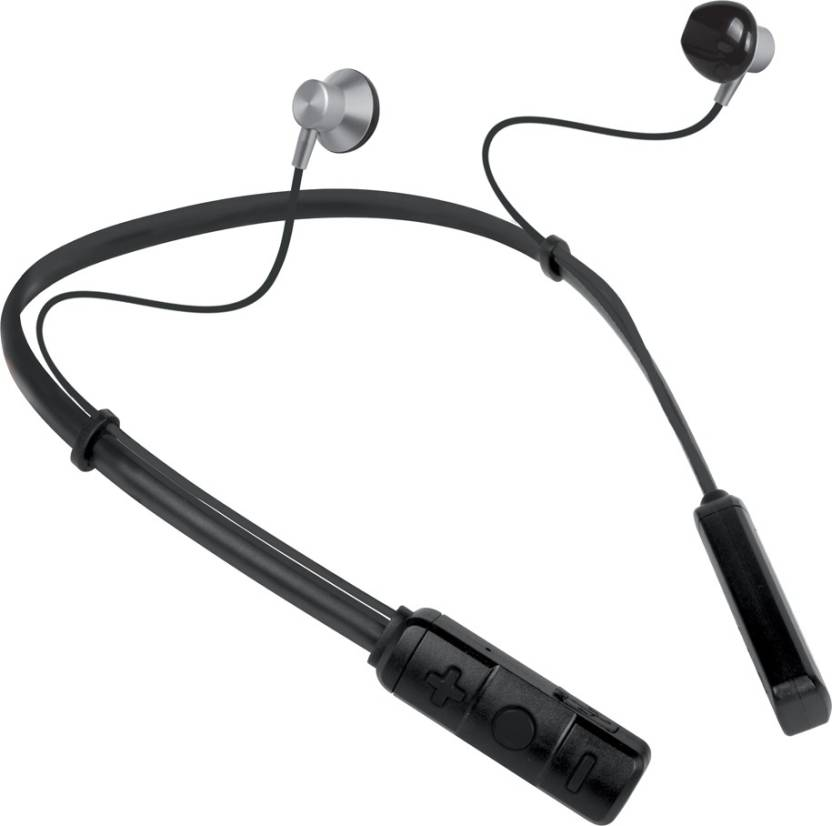 PTron Tangent Pro NeckBand Bluetooth Headset with Mic (Grey, In the Ear)