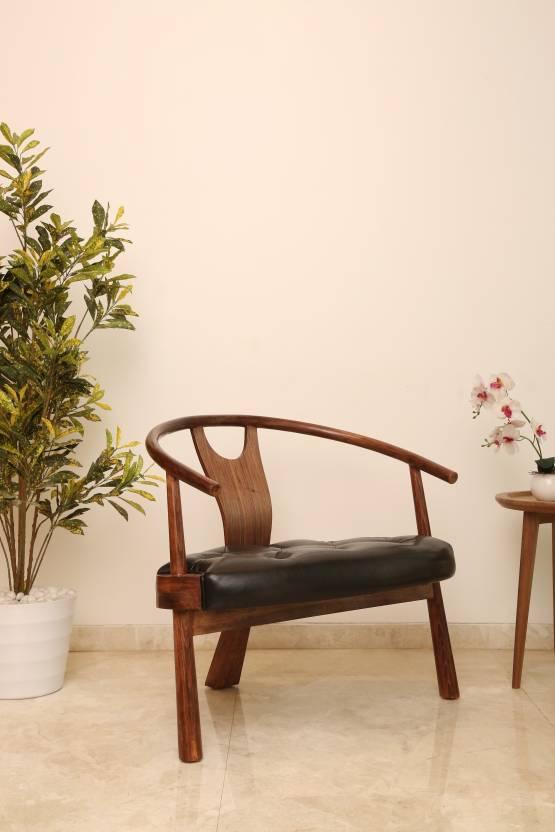 Akshni Rajwada Solid Wood Living Room Chair Finish Color   Walnut