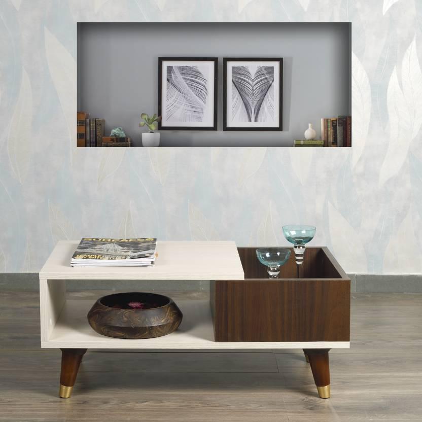 Akshni Ella Engineered Wood Coffee Table Finish Color   Oak   Walnut