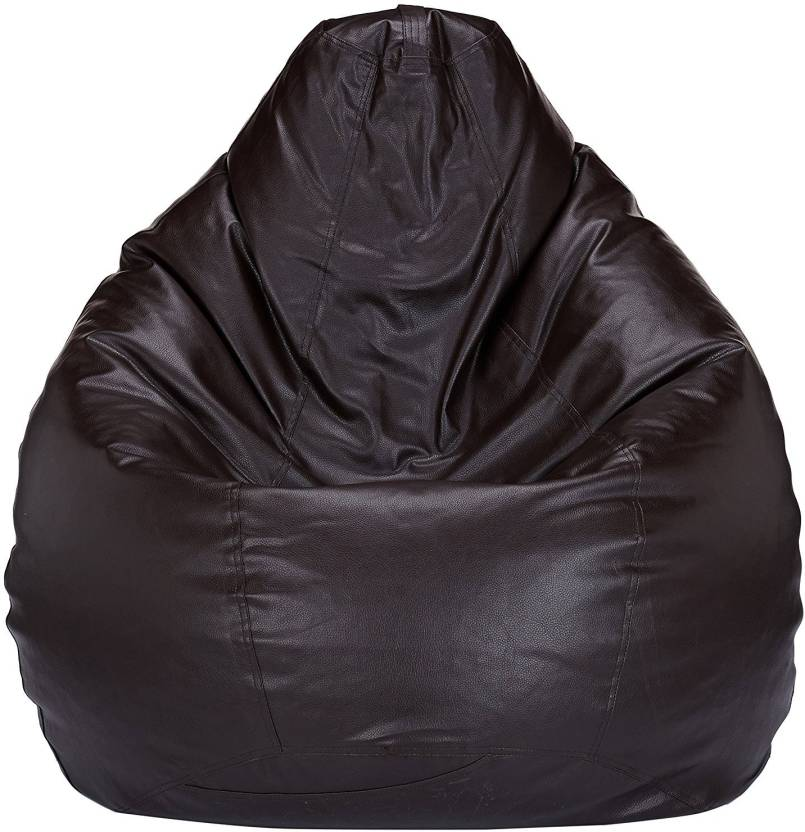 Fab Homez XXXL Tear Drop Bean Bag Cover  Without Beans  Brown
