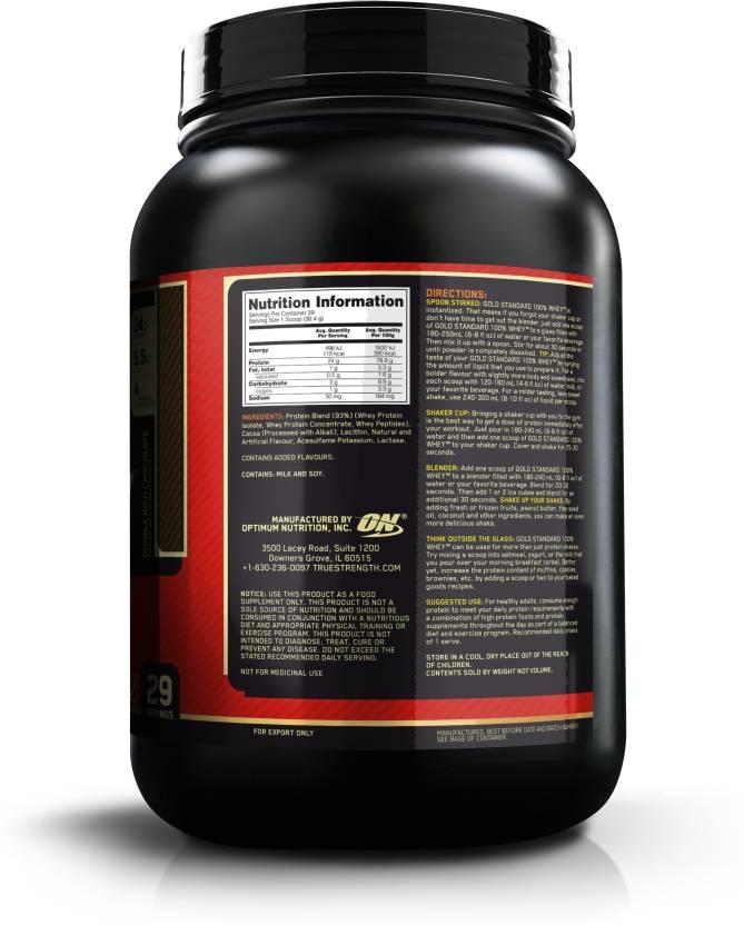 Optimum Nutrition Gold Standard 100% Whey Protein 907 g, Double Rich Chocolate  Optimum Nutrition Protein Supplements