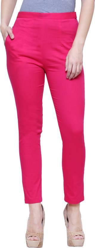 LEAF Pink Jegging Solid LEAF Women's Jeggings