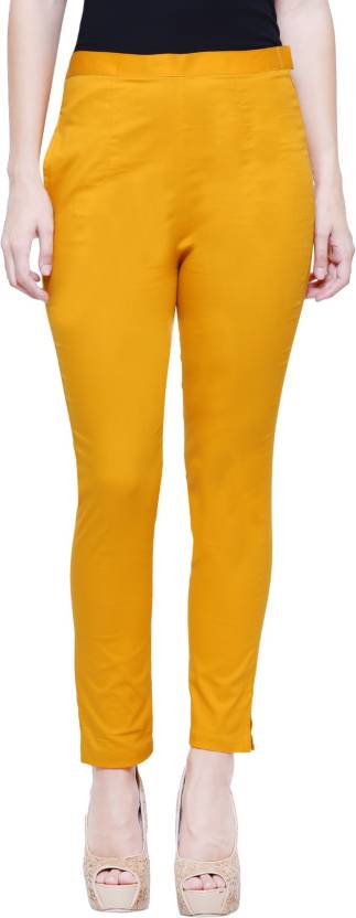 LEAF Yellow Jegging Solid LEAF Women's Jeggings