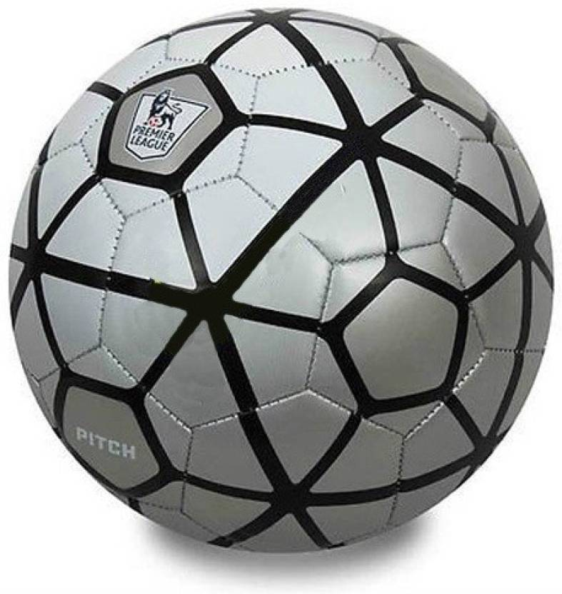 Furious3D Silver Pitch Football   Size: 5 Pack of 1, Silver
