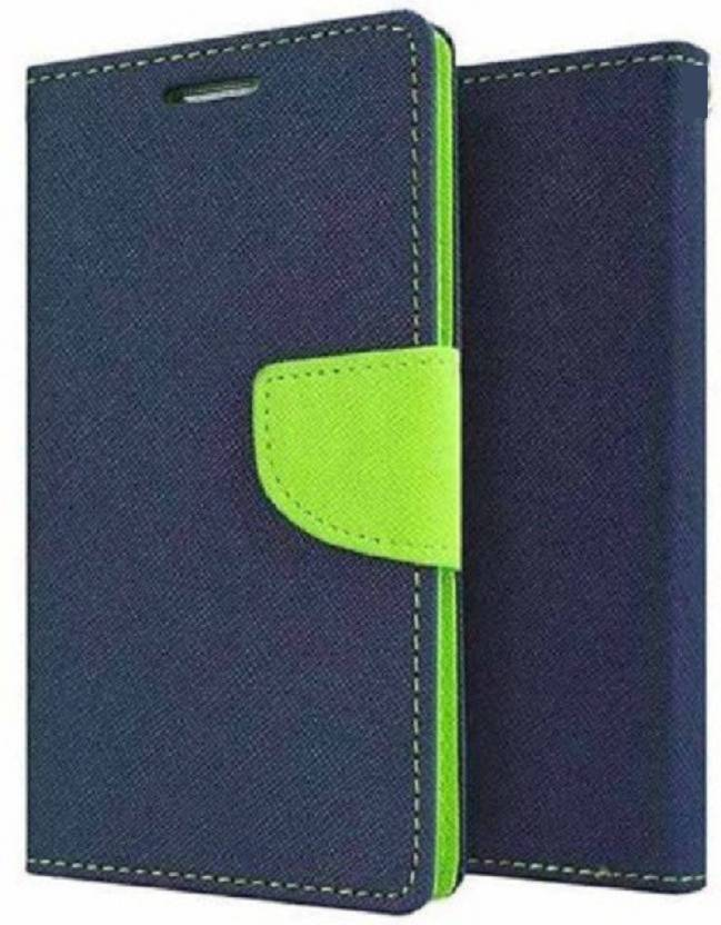 Wristlet Flip Cover for Samsung Galaxy M20 Blue, Dual Protection