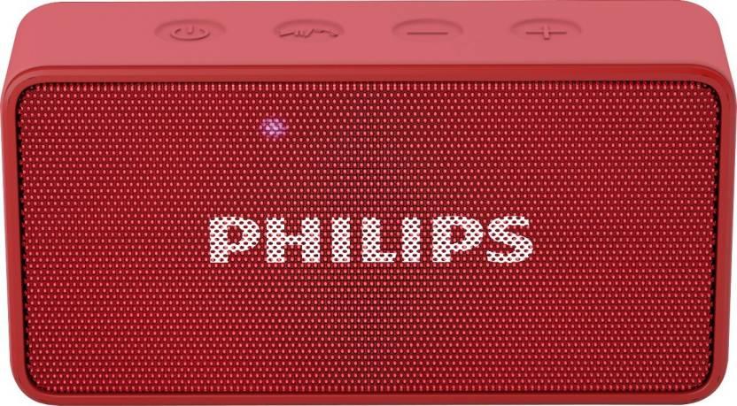 Philips BT64R/94 3 W Portable Bluetooth Speaker