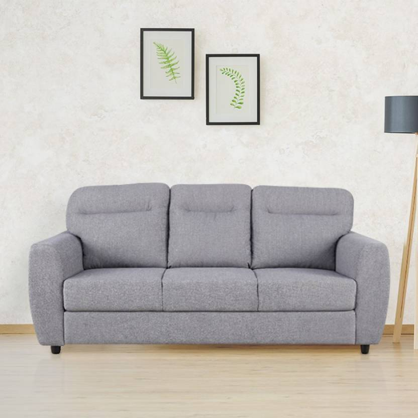 Chelsea Fabric Three Seater Sofa In Grey Colour