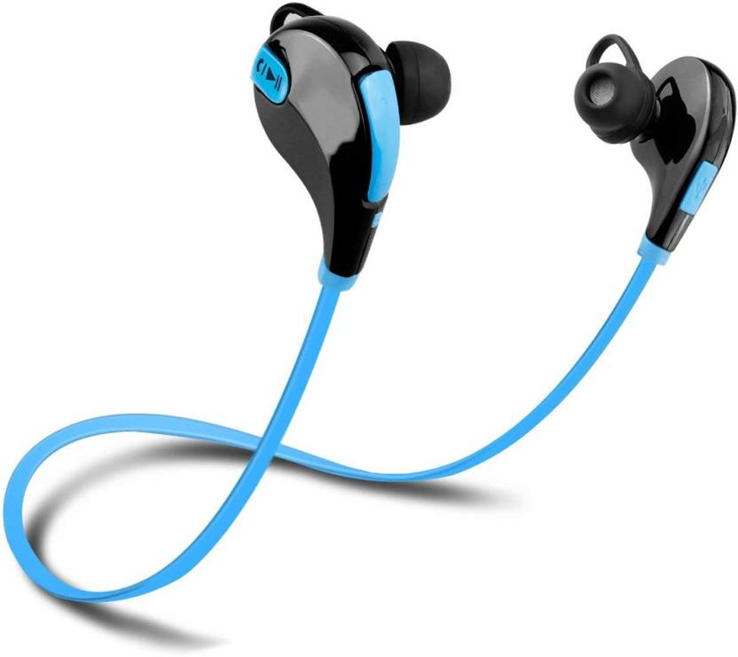 LIFEMUSIC QY7 Wireless Sports IPX7 Waterproof HD Stereo Sweatproof Earbuds Bluetooth Headset Multicolor, In the Ear