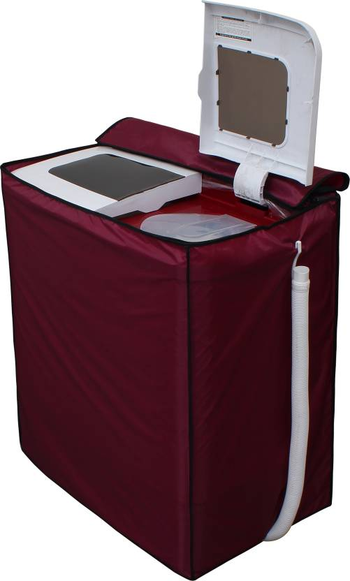 Glassiano Top Loading Washing Machine Cover Maroon