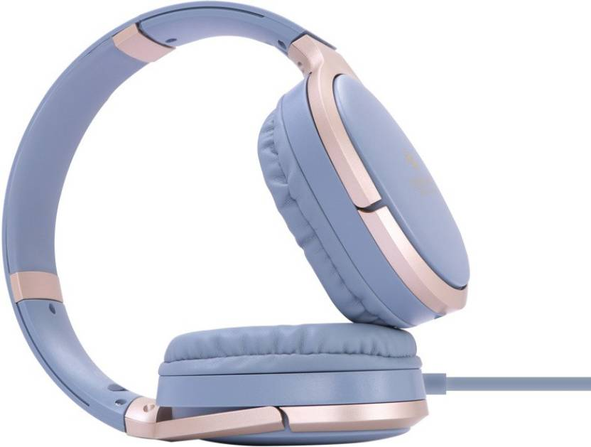 Zebronics Elegance Wired Headphone With Mic Wired Headset with Mic Blue, Over the Ear