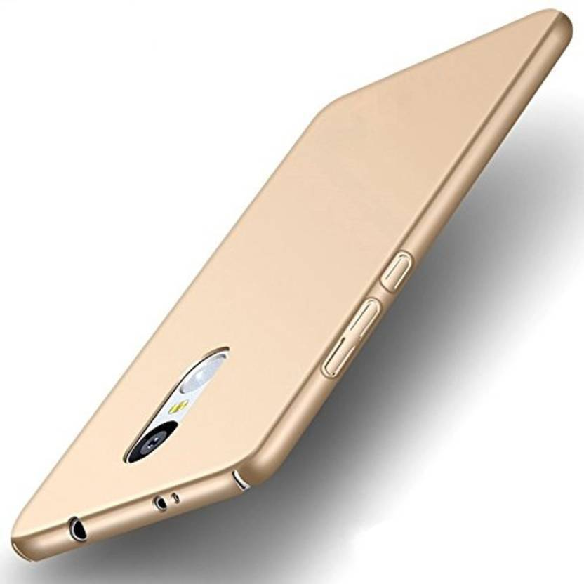 GadgetM Back Cover for Mi Redmi Note 4 Gold