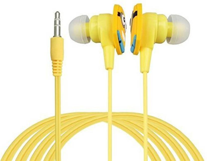Flavo Mic Edition Earphones Headphone Wired Headset with Mic Yellow, In the Ear