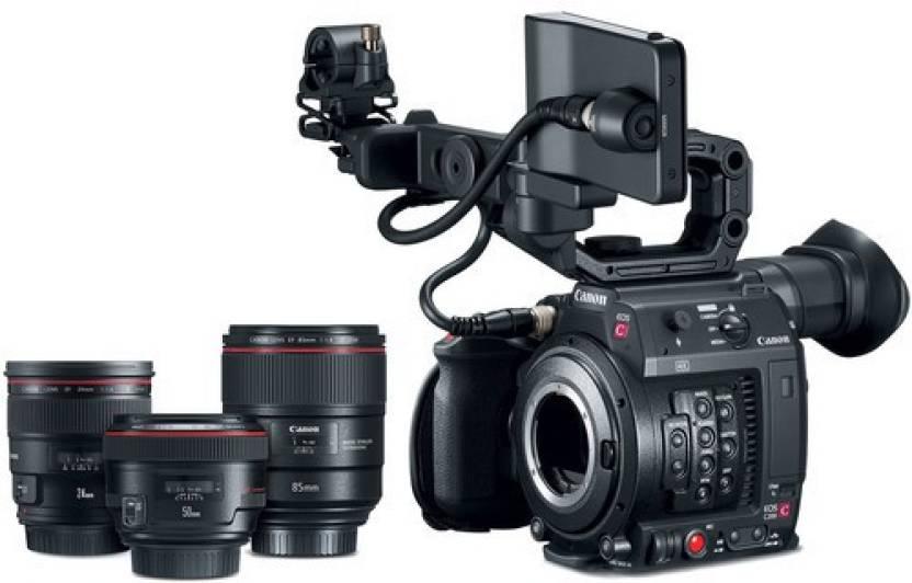 Canon EOS C200 DSLR Camera Body with 3 Prime Lens(Black)