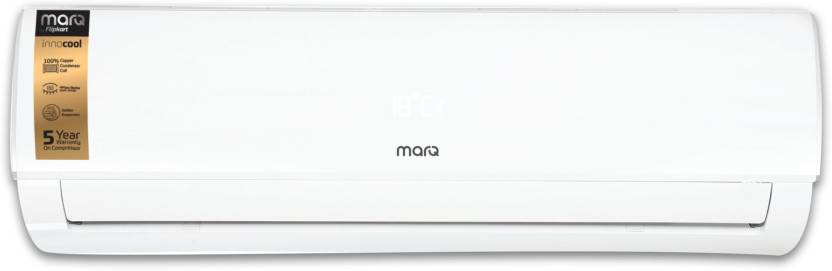 MarQ by Flipkart 1.5 Ton 3 Star Split Inverter AC - White (FKAC153SIAINC, Copper Condenser)