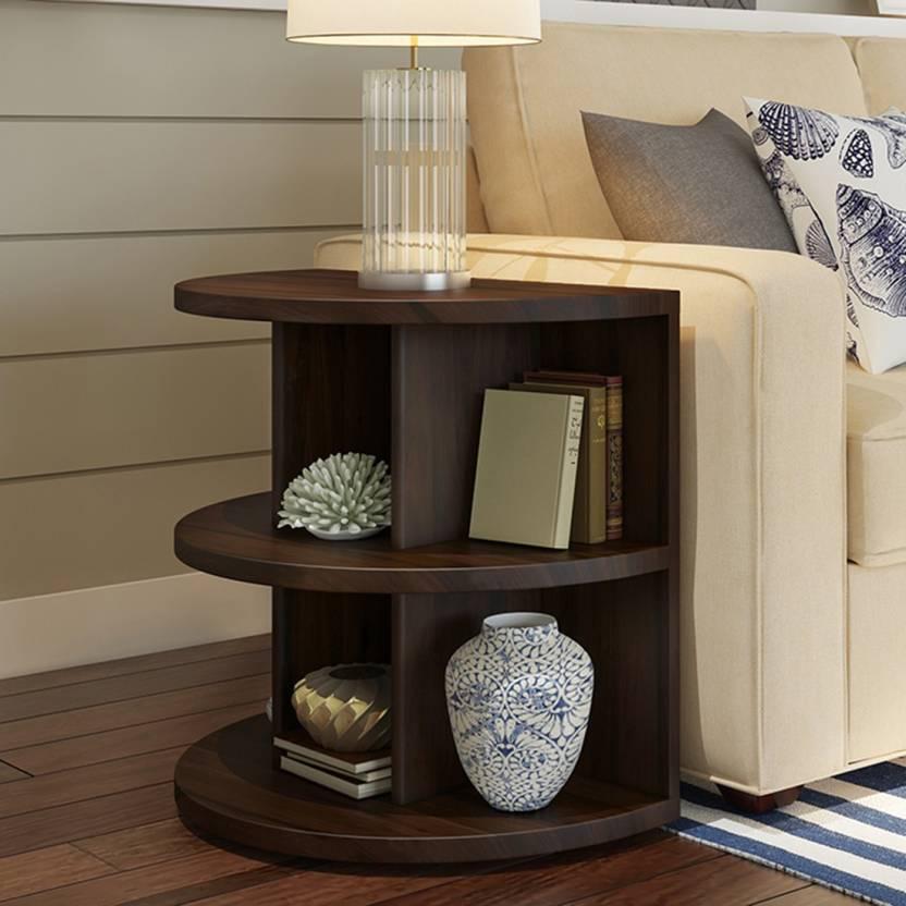 Urban Ladder Sheesham Wood Solid Wood Side Table Finish Color   Mahogany Urban Ladder Side Tables