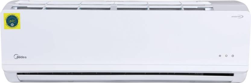 Midea 1 Ton 5 Star Split Inverter AC   White 12K 5 Star Santis Pro Ryl Inverter R32  MI004  / 12K 5 Star Inverter R32 ODU  MI004 , Copper Condens