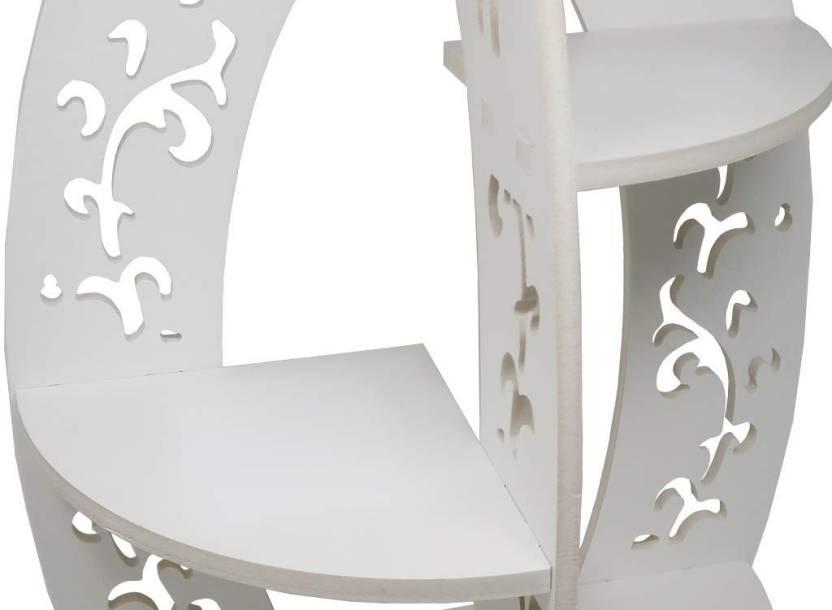 Onlineshoppee Table Top Shelf Wooden Wall Shelf
