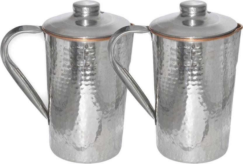 Prisha India Craft Dimple (1600 ml) Hammered Design Outside