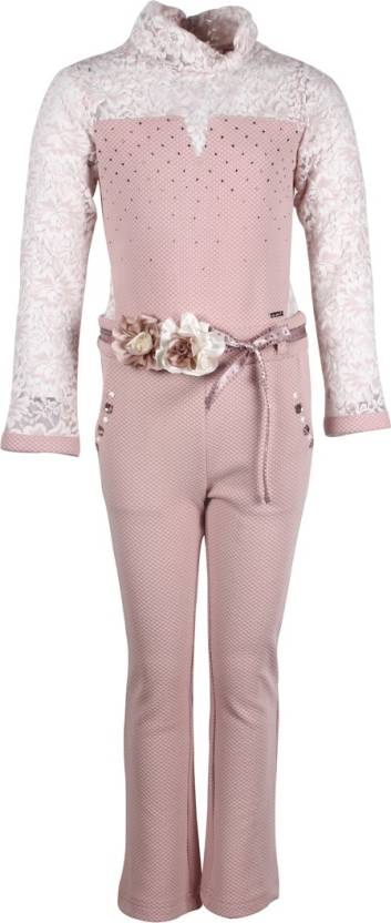 dbc1779868 Cutecumber Solid Baby Girls Jumpsuit - Buy Pink Cutecumber Solid ...