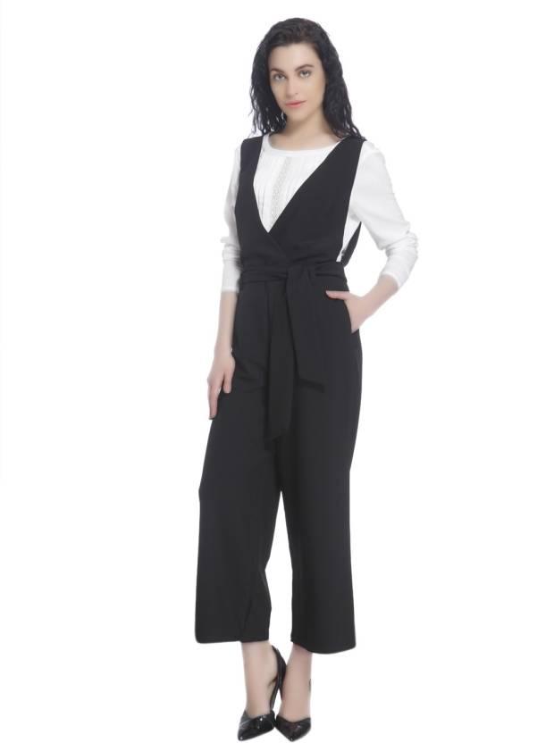 Vero Moda Solid Women s Jumpsuit - Buy Black Vero Moda Solid Women s  Jumpsuit Online at Best Prices in India  d0531d0fd