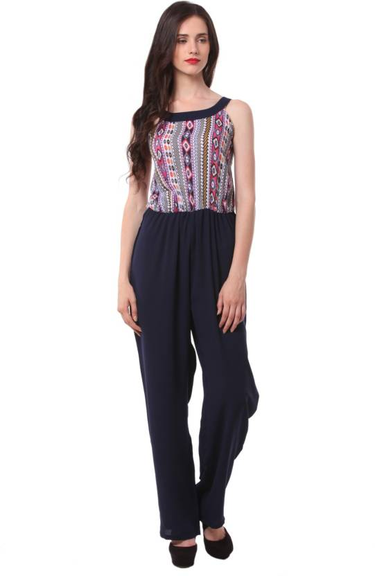 4fa50d784e35 Eyelet Printed Women s Jumpsuit - Buy Multicolor Eyelet Printed Women s Jumpsuit  Online at Best Prices in India