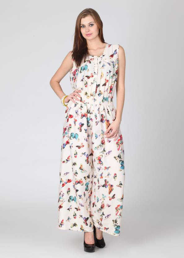 be2e9364e3b Hot Berries Printed Women s Jumpsuit - Buy White