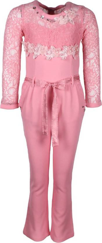 80751a5431 Cutecumber Solid Girls Jumpsuit - Buy Dusty Pink Cutecumber Solid ...
