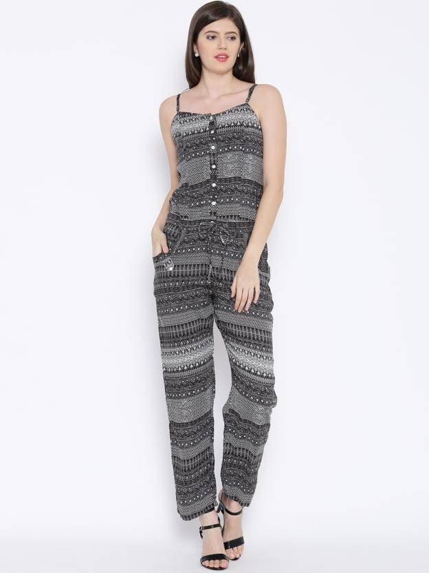 be7fff37d8f Biba Printed Women s Jumpsuit - Buy Black