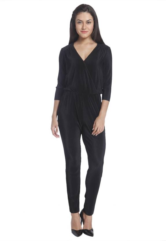 2fe19a132778 Only Solid Women s Jumpsuit - Buy Black Only Solid Women s Jumpsuit Online  at Best Prices in India