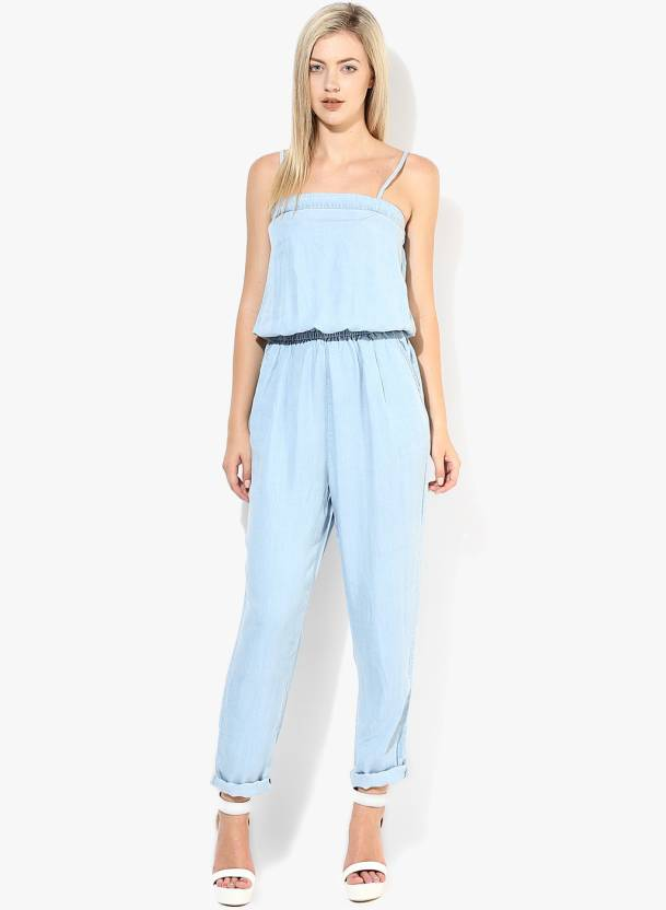 e6c74e35a6c4 Only Solid Women s Jumpsuit - Buy Light Blue Denim Only Solid Women s  Jumpsuit Online at Best Prices in India