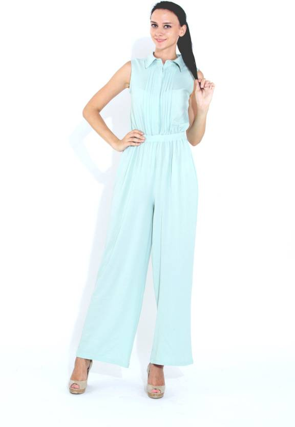 Naomi Code Solid Womens Jumpsuit Buy Light Blue Naomi Code Solid