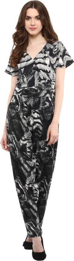 8a7769a991bb La Zoire Printed Women s Jumpsuit - Buy Black Tie and Dye La Zoire ...