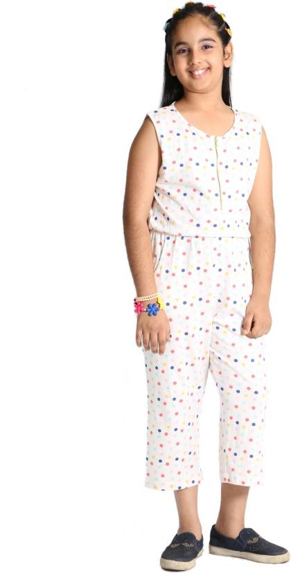 02fba475c90 Paul   doll Polka Print Girls Jumpsuit - Buy white with polka dots Paul    doll Polka Print Girls Jumpsuit Online at Best Prices in India