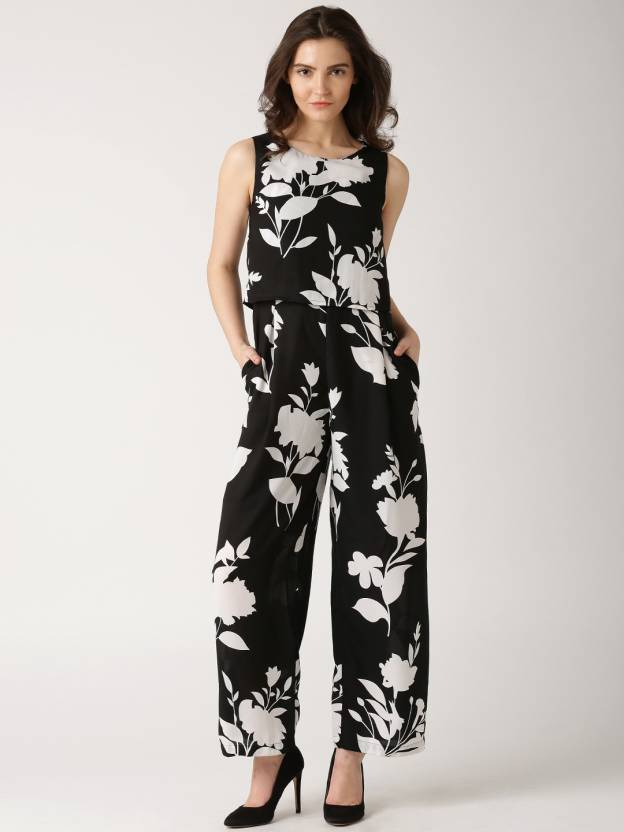c77a464886b Dressberry Printed Women s Jumpsuit - Buy Black Dressberry Printed Women s  Jumpsuit Online at Best Prices in India