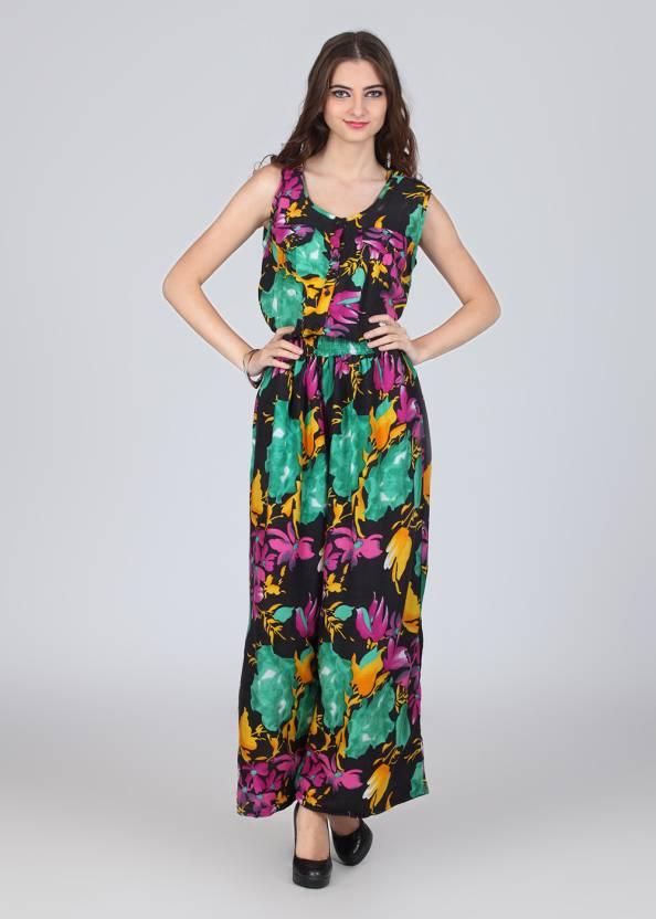 717f494f02 Hot Berries Printed Women s Jumpsuit - Buy Green