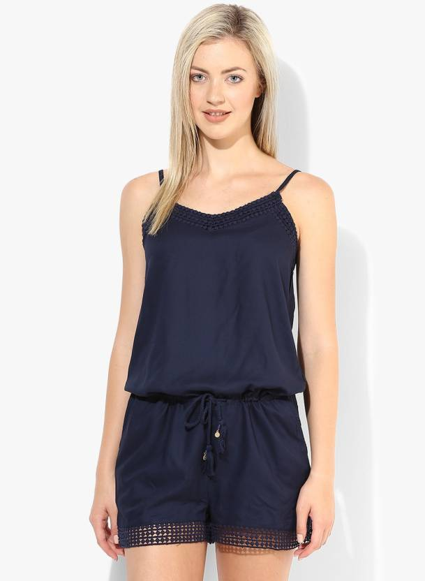 046b15c79e60f Only Solid Women's Jumpsuit - Buy Navy Blazer Only Solid Women's Jumpsuit  Online at Best Prices in India | Flipkart.com