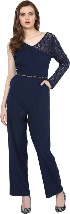ec270abce8f2 Harpa Solid Women s Jumpsuit - Buy Navy Harpa Solid Women s Jumpsuit ...