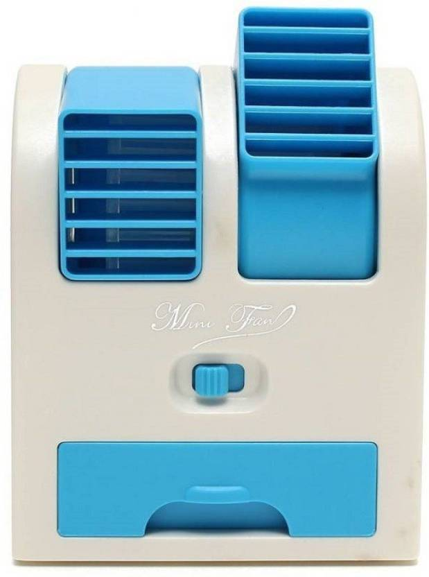 Adino Mini Air cooler 4 Blade USB Fan Blue