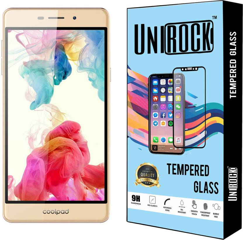 Unirock Tempered Glass Guard for Coolpad Mega Pack of 3